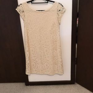 Tart low back off white lace dress